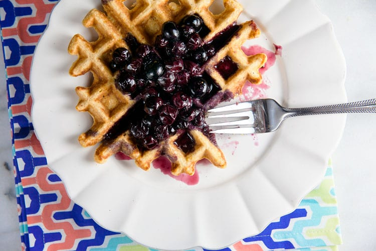 Sweet-Corn-Waffle-with-Blueberries