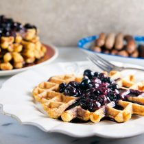 Sweet Corn Waffles with Blueberry-Bourbon Sauce 22