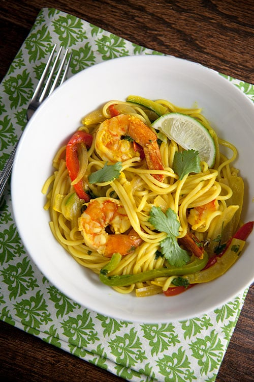 Coconut-and-Turmeric-Noodle-Bowls-with-Shrimp
