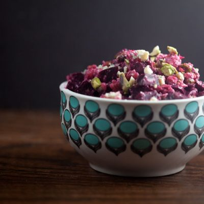 Roasted Beet Salad with Blue Cheese and Pistachio