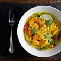 One Pot Shrimp and Udon Noodle Bowls // @HealthyDelish