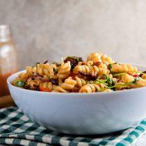 BLT Pasta Salad with Smoked Tomato and Bacon Vinaigrette // @HealthyDelish