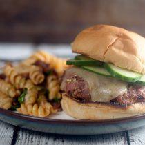 Dill Havarti Turkey Burgers // @HealthyDelish