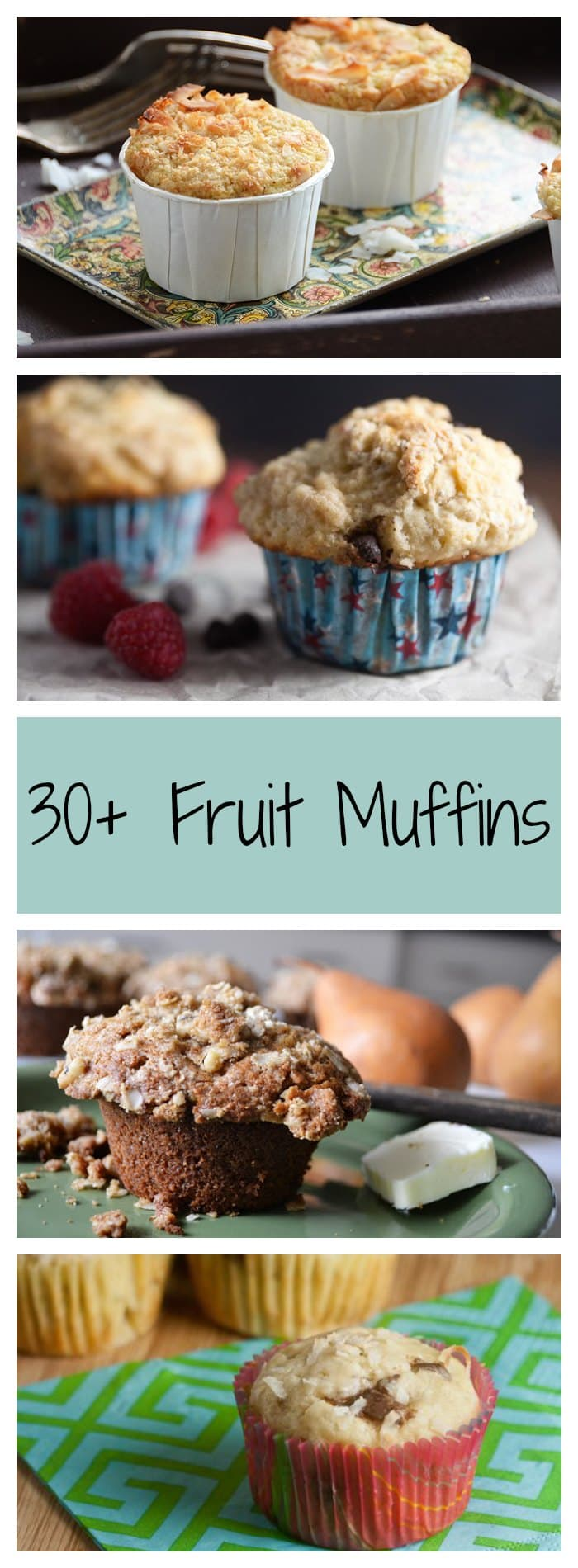 30+ Muffins with Fresh Fruit