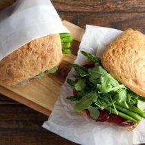 Ham and Asparagus Picnic Sandwiches // @HealthyDelish