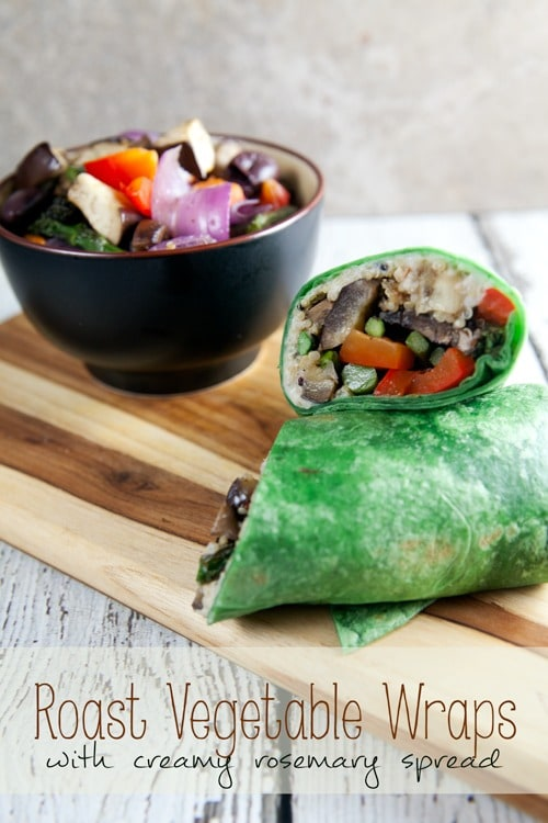 Roast-Vegetable-Wraps-with-Creamy-Rosemary-Spread