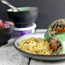 Roasted Vegetable Wraps with Creamy Rosemary Spread 20