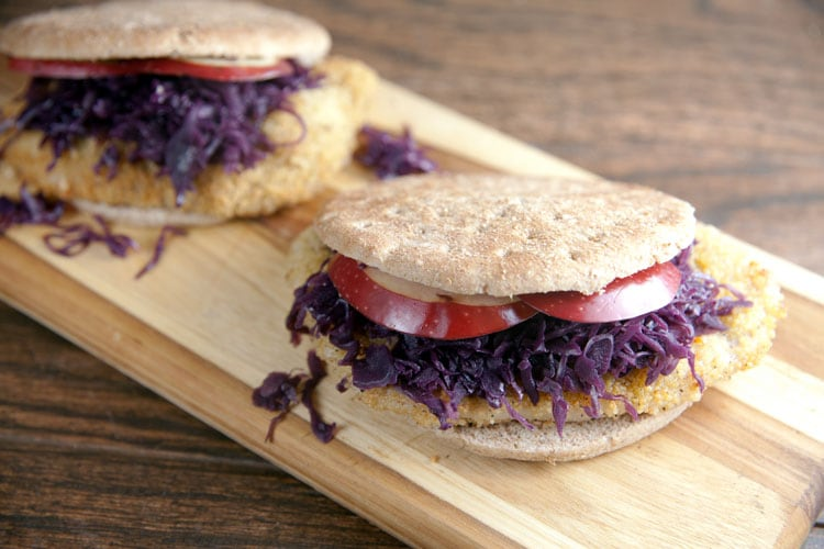 German Pork and Red Cabbage Sandwiches // @HealthyDelish