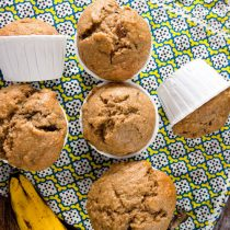 Peanut Butter, Banana, and Bacon Muffins | @HealthyDelsih