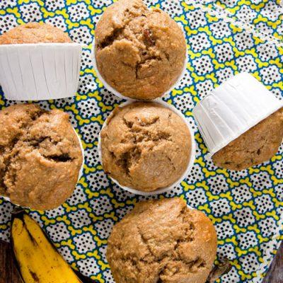 Peanut Butter, Banana + Bacon Muffins