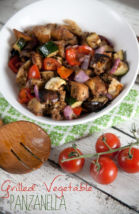 Grilled Vegetable Panzanella - Healthy. Delicious.