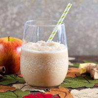 Creamy Apple Cider Slush | @HealthyDelish
