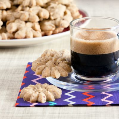 Coffee-Hazelnut Spritz Cookies