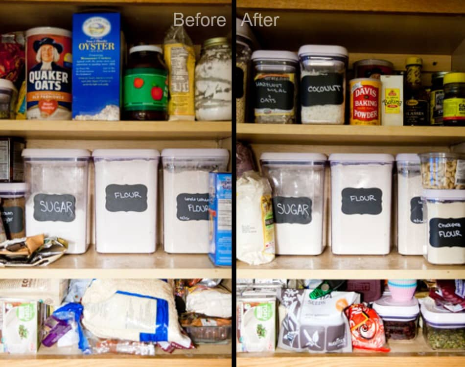 Baking Cabinet Before and After