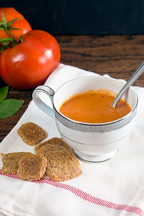 Fast and Easy Creamy Tomato Basil Soup - Gluten Free and Dairy Free