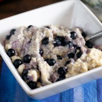 Blueberry Almond Millet Porridge