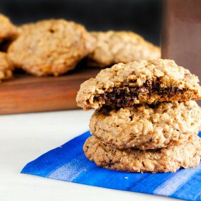 Nutella Stuffed Oatmeal Cookies (Gluten Free)
