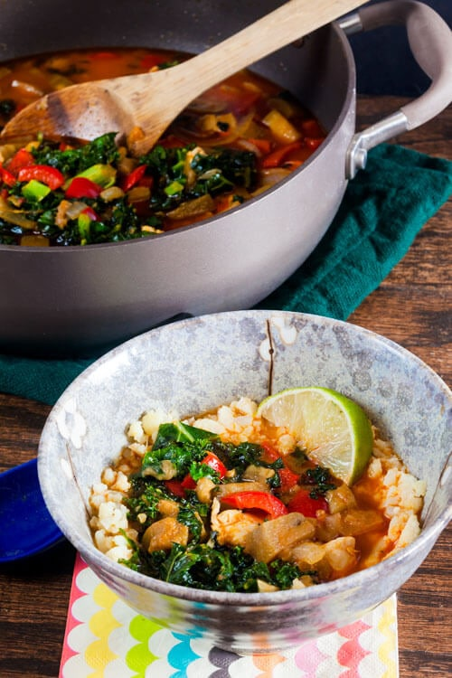 Eggplant and Kale Curry with Chicken