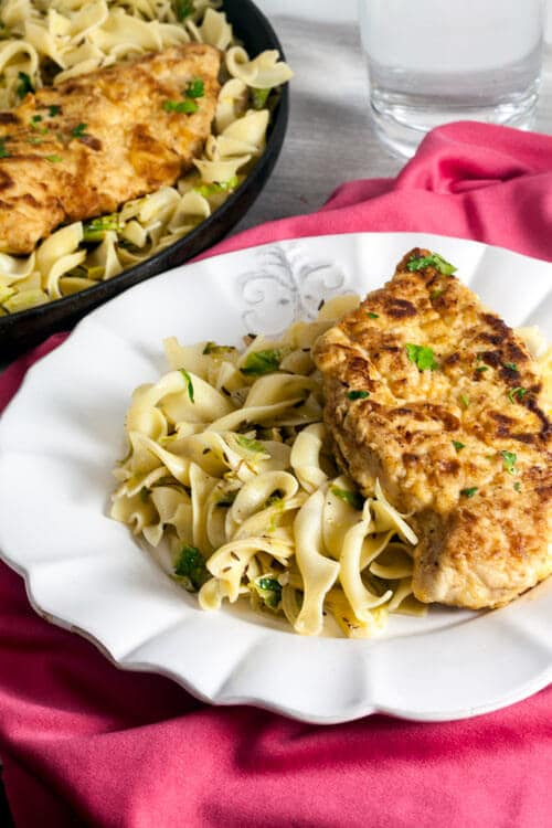 Egg Noodles with Brussels Sprouts and Caraway