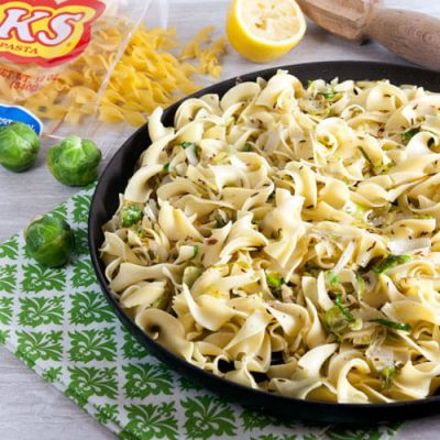 Noodles with Brussels Sprouts, Caraway, and Lemon