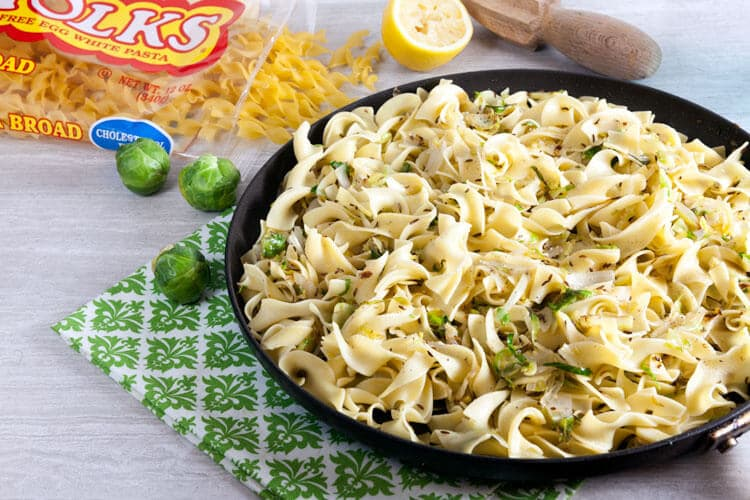 Noodles with Brussels Sprouts and Caraway