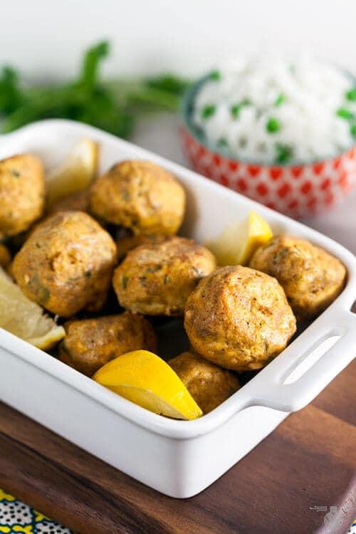 Tandoori chicken meatballs