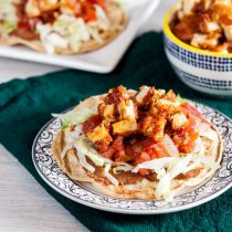 Maple-Adobo Tostadas // @HealthyDelish