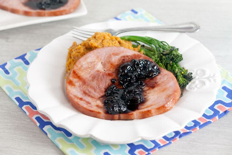 Ham Steaks with Cherry-Balsamic Sauce