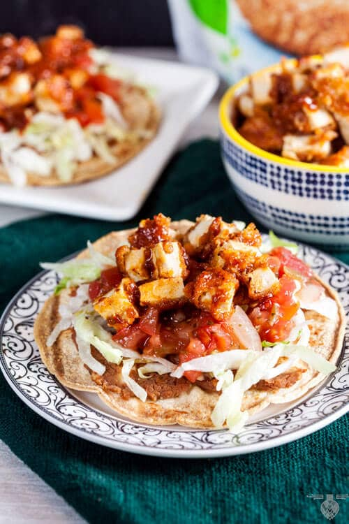 Honey-Adobo-Chicken-Tostadas