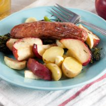 Roast Sausages With Apples And Parsnips Healthy Delicious