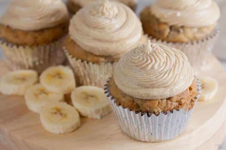 Dairy Free Banana Cupcakes with Brown Sugar Buttercream ...