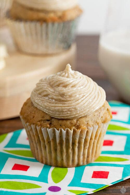 Dairy Free Banana Cupcakes with Brown Sugar Buttercream (Dairy Free)