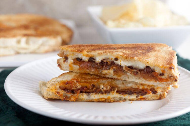 Eggplant and Sundried Tomato Grilled Cheese