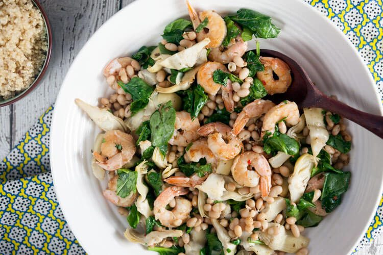 Quick dinner idea: 15-minute shrimp and artichoke sauté. This recipe is so easy!