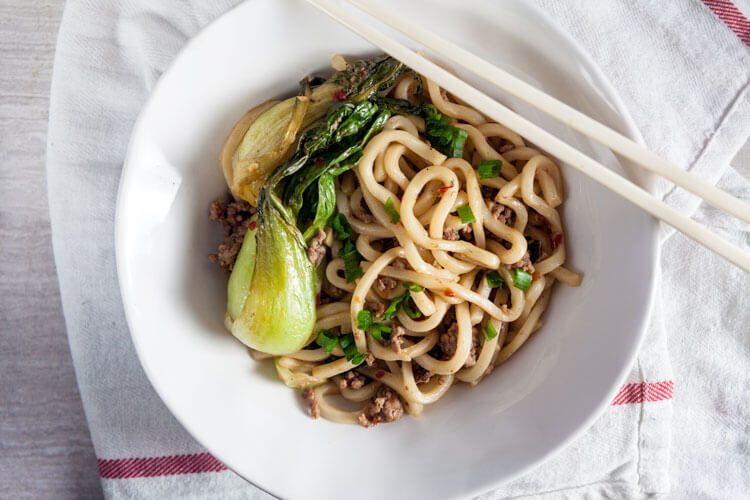 Spicy Garlic Noodles with Pork. This recipe is so easy!