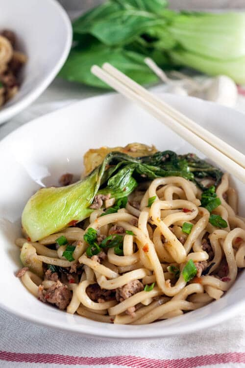 Udon Noodles With Edamame, Peppers & Mushrooms In Ginger ...