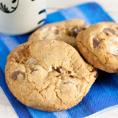 Whole Wheat S'mores Cookies