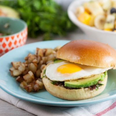 Chimichurri Breakfast Sandwich with Coffee-Glazed Bacon