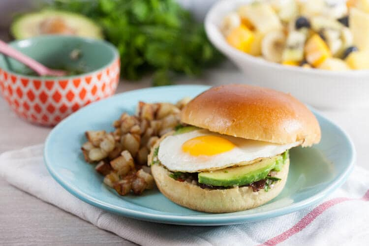 Chimichurri Breakfast Sandwich with Coffee-Glazed Bacon (#BrunchWeek)