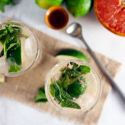 Brûléed Grapefruit Mojitos