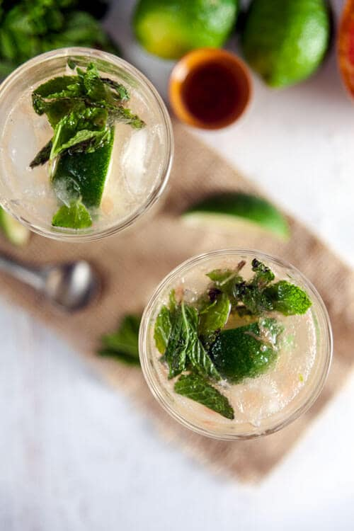 Broiled Grapefruit Mojitos Recipe