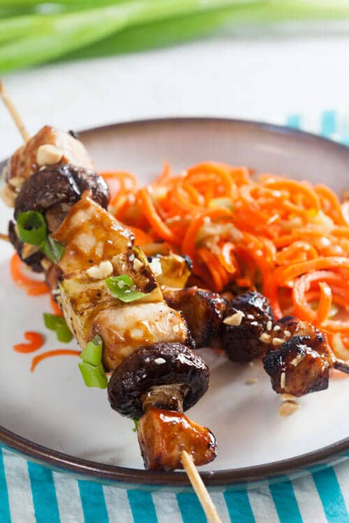 Hoisin Glazed Chicken Kebabs Recipe