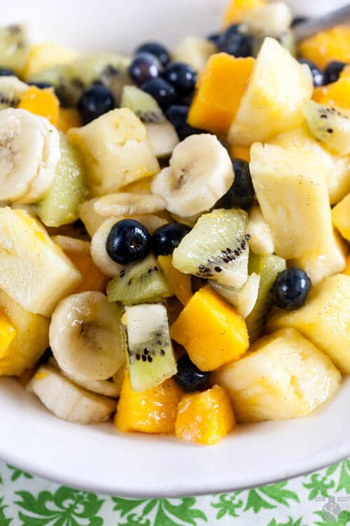 Tropical Fruit Salad with Vanilla and Lime