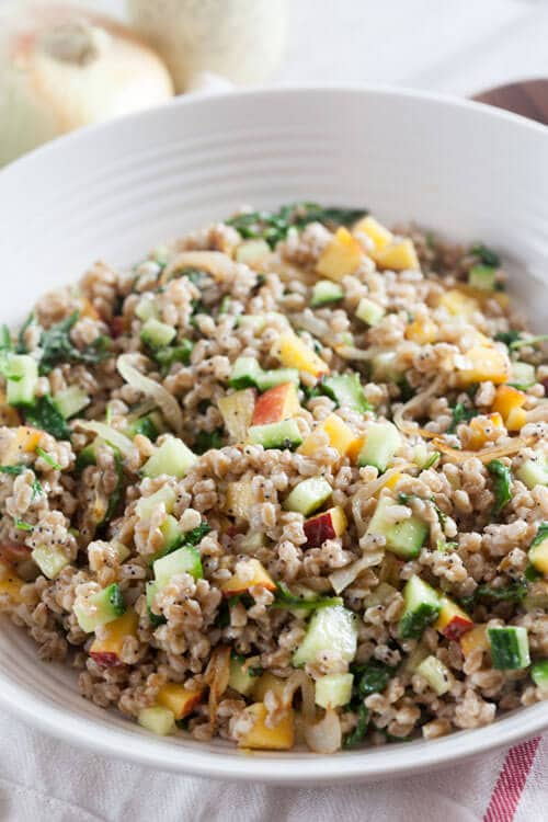 Farro Salad with Creamy Vidalia Poppyseed Dressing