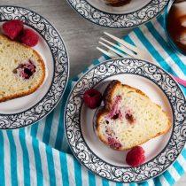 Raspberry Coconut Greek Yogurt Cake