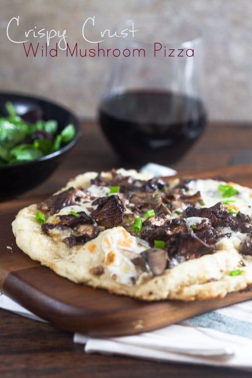 Crispy Crust Wild Mushroom Pizza | Healthy Delicious