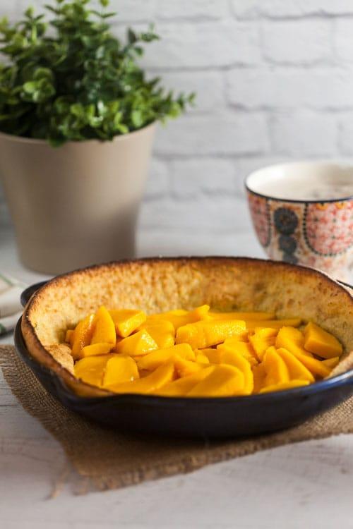 Vanilla Lime Dutch Baby with Fresh Mango Recipe