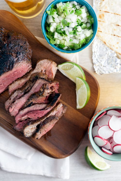 Grilled Lamb Tacos with Cucumber Salsa and Yogurt