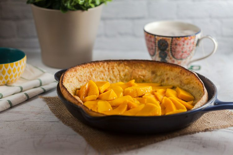 Vanilla Lime Dutch Baby with Fresh Mango Recipe