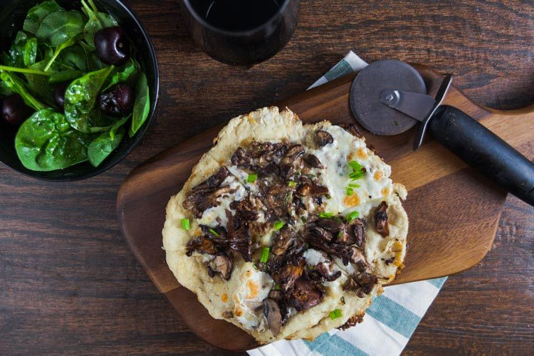 Crispy Crust Wild Mushroom Pizza | Healthy Delicious